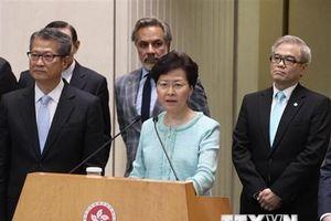 Lãnh đạo chính quyền Hong Kong kêu gọi khôi phục trật tự
