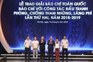 Trao Giải 'Báo chí với công tác đấu tranh phòng, chống tham nhũng, lãng phí' lần thứ hai, năm 2018-2019
