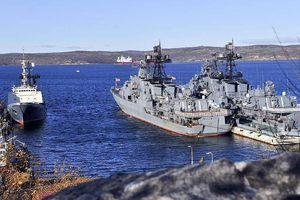 Tàu chiến Nga tập trận bắn tên lửa trên biển Barents