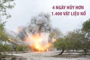 Cận cảnh 4 ngày hủy nổ hơn 1.400 vật liệu nổ ở Quảng Trị