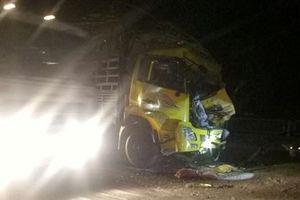 2 xe tải đâm nhau trong đêm, hai người thương vong