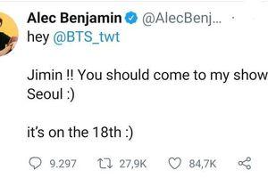 Chủ nhân bản hit Let Me Down Slowly 'rủ rê' Jimin (BTS) đến xem show của mình, fan liền trông đợi vào màn hợp tác từ hai chàng trai