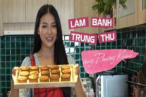 Hoa hậu Phương Khánh trổ tài làm bánh trung thu nhân dừa