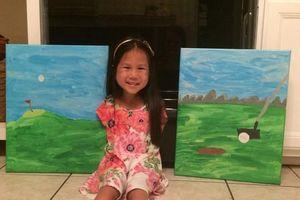 Sinh ra đã không có hai tay, bé gái gốc Việt vẽ tranh bằng chân khiến triệu người nể phục