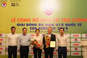 Bà Rịa - Vũng Tàu đăng cai Giải bóng đá nam U15 quốc tế