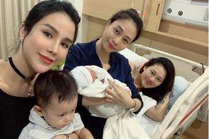 Khoe ảnh Pông Chuẩn mới sinh, Đàm Thu Trang bị giục sinh con đầu lòng