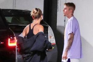 Justin Bieber và bà xã căng thẳng khi đi ăn trưa trước thềm đám cưới