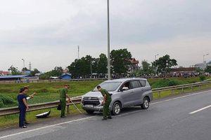 Thực nghiệm điều tra vụ xe container đâm Innova đi lùi trên cao tốc
