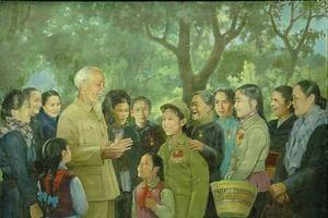 Những bức tranh đầy tôn kính của thế hệ họa sĩ Đông Dương nhớ về Bác Hồ