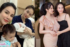 Đi sinh nhật thấy Diệp Lâm Anh bụng bầu vượt mặt, Đàm Thu Trang mắng yêu 'chậm chậm thôi đợi tớ'