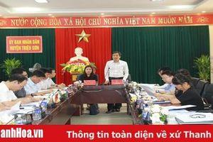 Khảo sát thực hiện đề án thành lập thị trấn Nưa, huyện Triệu Sơn