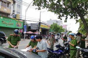 Công an phường Trường Thọ ra quân xử lý lấn chiếm vỉa hè
