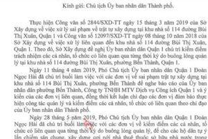 Quận 1 không thể 'xử' được cá nhân liên quan sai phạm tại khu nhà 114 Bùi Thị Xuân