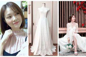 Cô gái xinh xắn dành 3 tháng tự tay may váy cưới gây 'sốt' mạng