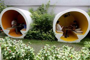 Quán cà phê ở Sài Gòn cho khách 'chui' vào ống cống
