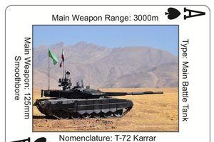 Quân đội Mỹ phát hành bộ bài in hình kho vũ khí Iran