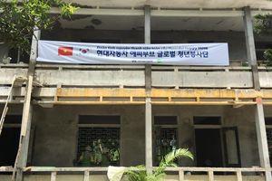 Sinh viên Hàn Quốc cùng tổ chức KFHI cải tạo trường tiểu học tại Ninh Bình