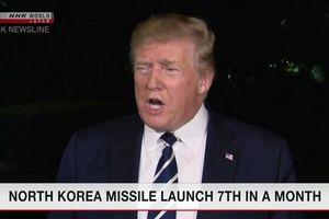 Ông Trump nói việc Triều Tiên thử tên lửa tầm ngắn không phải là vấn đề rắc rối