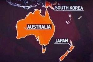 Truyền hình Nga đặt nhầm Nhật Bản ở Nam bán cầu, cạnh Australia