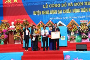 Huyện đầu tiên của tỉnh Quảng Ngãi đạt chuẩn nông thôn mới