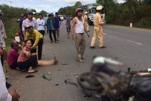 Hai xe máy đối đầu, 1 thiệt mạng, 1 người bị thương