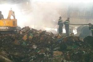 Tiền Giang: Cháy nhà máy giấy, thiệt hại nhiều tỷ đồng