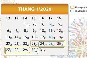 Đề xuất 2 phương án nghỉ Tết Nguyên đán Canh Tý 2020