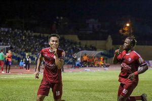 Sân Vinh: SLNA thua trận đầu tiên trên sân nhà