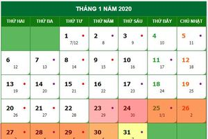 Hai phương án nghỉ Tết Nguyên đán Canh Tý 2020