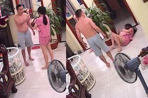 Clip: Phẫn nộ hình ảnh người vợ trẻ bế con bị chồng đánh đập dã man