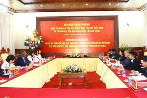 Chánh án TANDTC Việt Nam hội đàm với Chánh án TANDTC Cuba