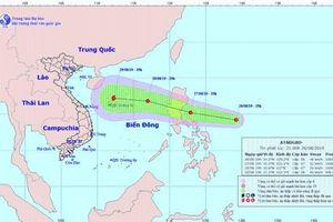 Áp thấp mạnh lên thành bão trên Biển Đông