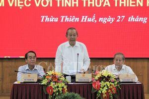 Phó Thủ tướng Thường trực Chính phủ làm việc tại Thừa Thiên Huế
