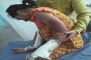 Điều tra vụ vợ mang thai bị chồng đánh vỡ đầu