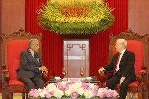 Tổng Bí thư, Chủ tịch nước Nguyễn Phú Trọng tiếp Thủ tướng Malaysia thăm chính thức Việt Nam