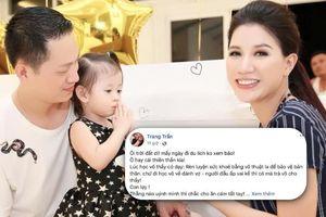 Trang Trần tag 'dằn mặt' chồng Việt kiều vì quá bức xúc vụ 'võ sư đánh vợ'