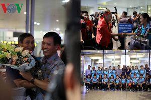 Vô địch AFF Cup 2019 trên đất Thái, ĐT nữ Việt Nam hân hoan về nước