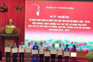 Quận Thanh Xuân: Nhiều mô hình, cách làm hay thực hiện theo tư tưởng, đạo đức Hồ Chí Minh