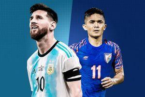 Messi thua sao Ấn Độ ở top cầu thủ ghi bàn nhiều nhất cho ĐTQG