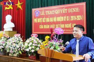 Tỉnh Nghệ An phê chuẩn kết quả bầu chủ nhiệm Đoàn Luật sư