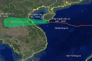 Bão số 4 tăng tốc nhanh, rạng sáng 30/8 sẽ đổ bộ vào đất liền Nghệ An - Quảng Bình