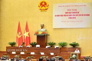 03 nội dung chính tại Hội nghị chuyên đề 50 năm thực hiện Di chúc của Chủ tịch Hồ Chí Minh