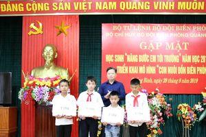 Triển khai rộng mô hình 'Con nuôi đồn biên phòng' ở Quảng Bình
