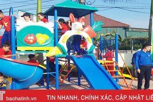 Tỉnh đoàn Hà Tĩnh huy động 685 triệu đồng xây dựng 82 khu vui chơi cho trẻ