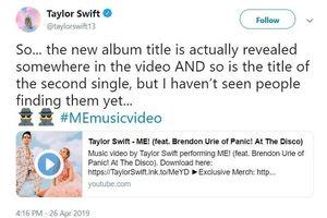 Taylor Swift: 'Khả năng cao Lover sẽ không có tour diễn'