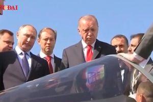 Cận cảnh tiêm kích Su-57 khiến Tổng thống Thổ Nhĩ Kỳ phải kinh ngạc