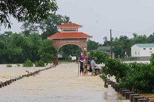 Nguy cơ lũ lên nhanh trong đêm tại huyện Hương Khê, Hà Tĩnh