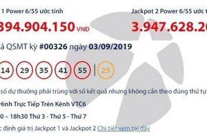Kết quả xổ số Vietlott 3/9/2019: Ai đã trúng giải khủng hơn 58 tỷ đồng?