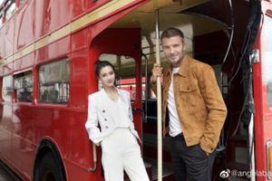 Hình ảnh Angelababy chụp cùng David Beckham đứng vị trí đầu bảng hot-search