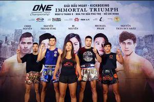 Giải đấu muay - kick boxing ONE Championship Việt Nam diễn ra vào tối 6-9